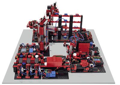 Simulación de fábrica a 24V con fischertechnik education en RO-BOTICA