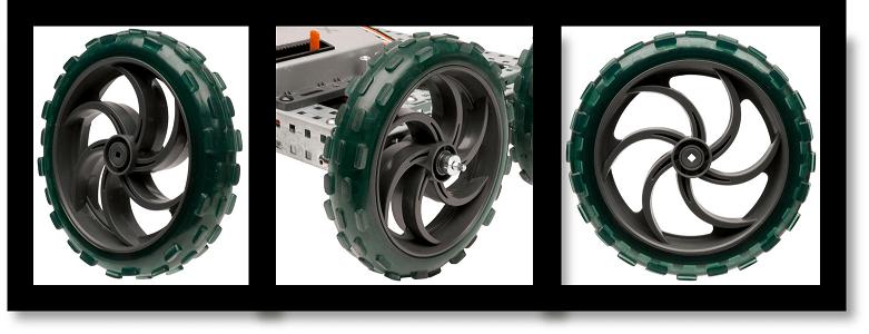 Pack de 4 ruedas de 12,7cm