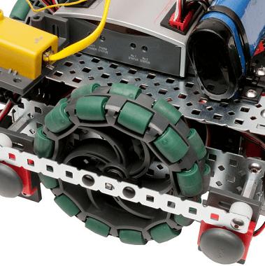 Robot VEX con rueda omnidireccional de 4´´