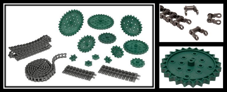 Kit de cadena y ruedas dentadas para el robot VEX