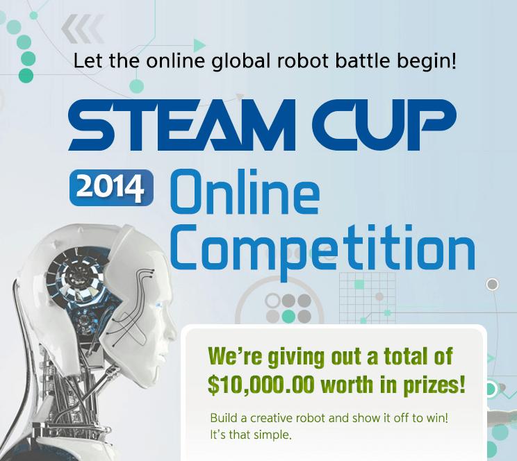 Competición de robótica online STEAM CUP