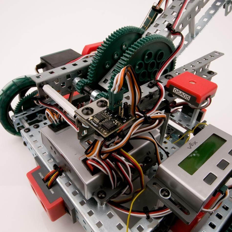 Sensor acoplado al robot VEX