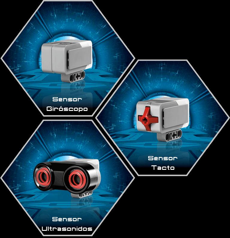 Pack de sensores educativos para EV3 hogar