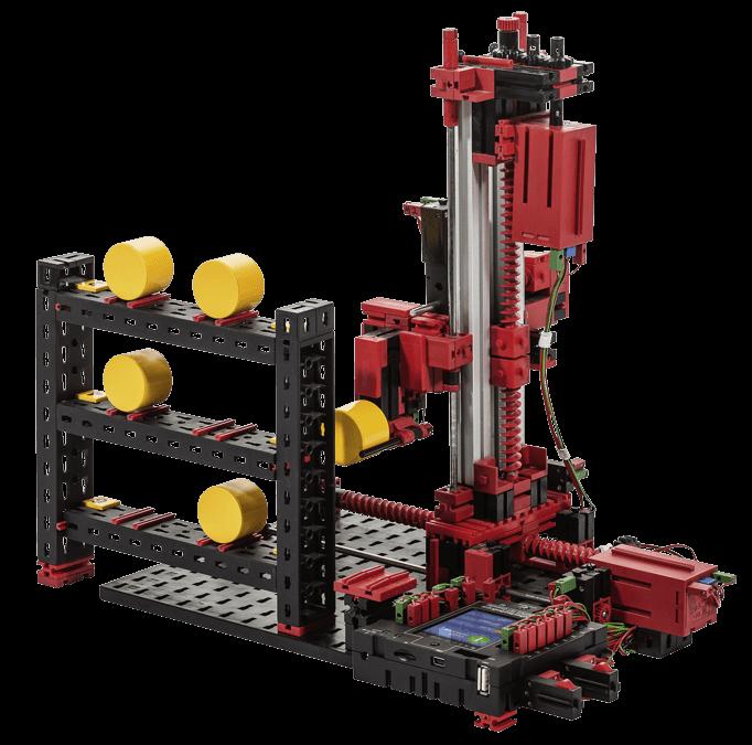 Modelo de brazo robot industrial con fischertechnik en RO-BOTICA