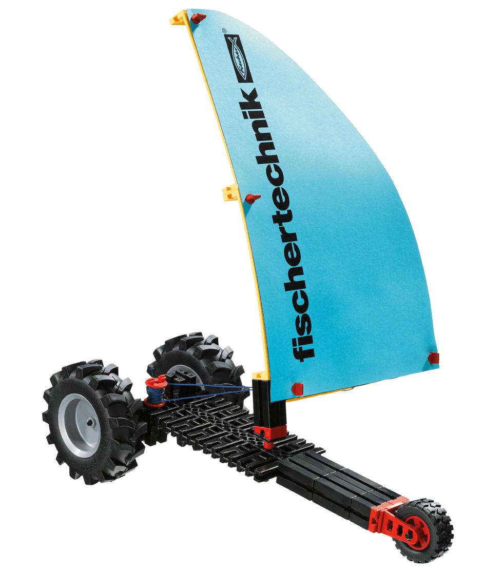 Vehículo propulsado por el viento con fischertechnik education