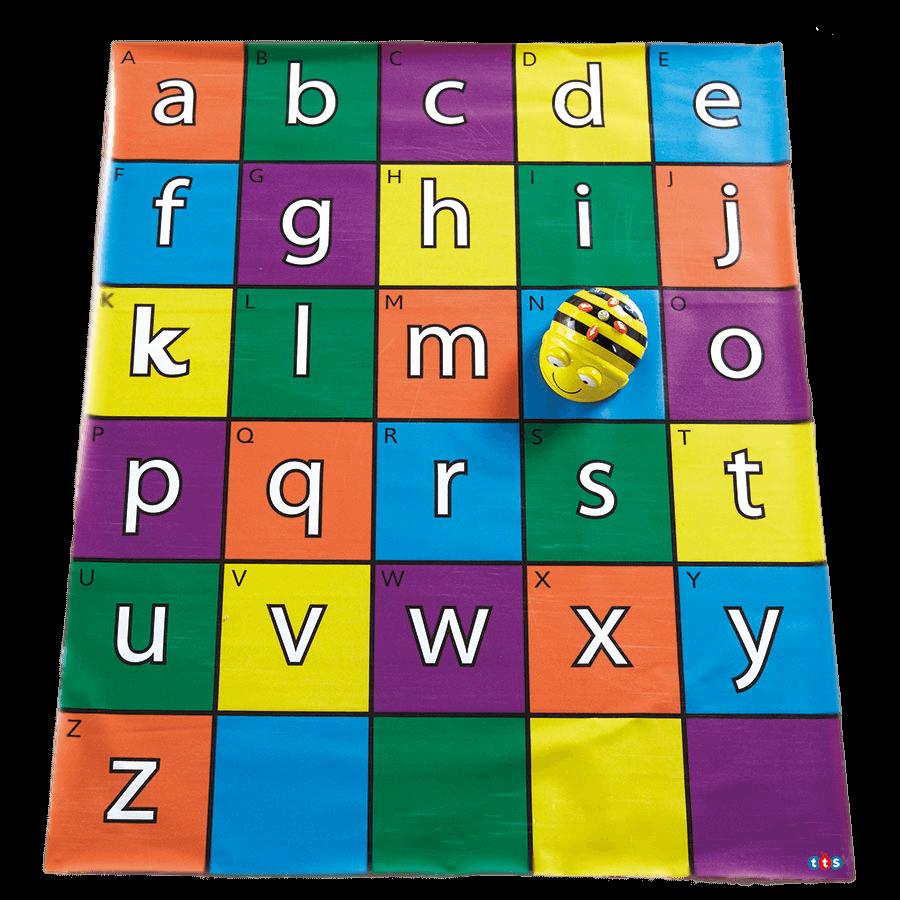 Alfombrilla con el abecedario de Bee-Bot