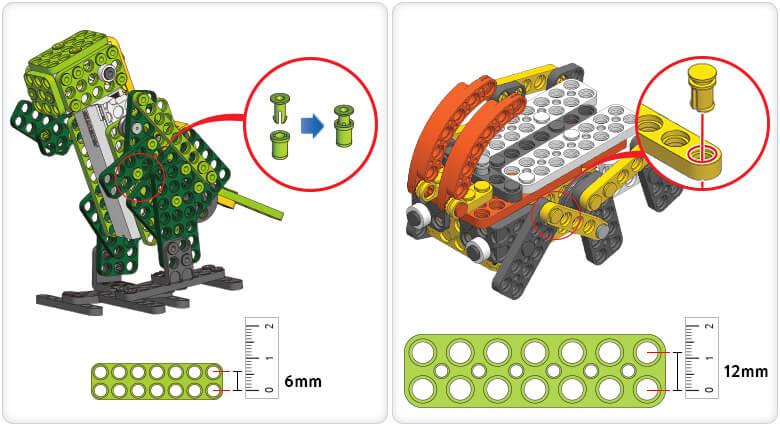 2 Tamaños ROBOTIS PLAY