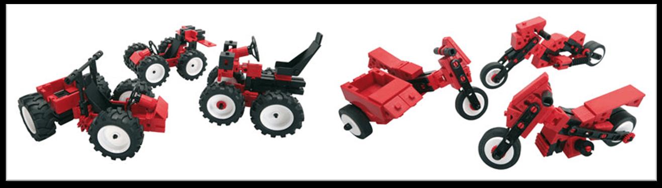 Pack de coches y motos con fischertechnik