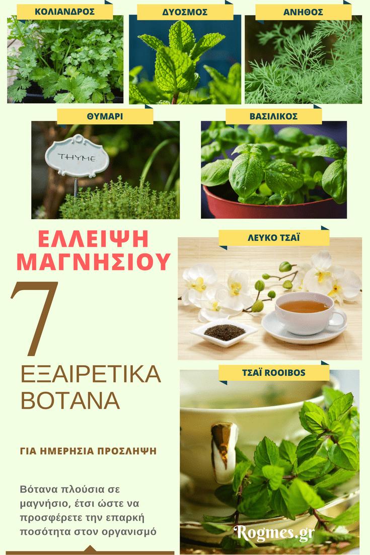 Έλλειψη μαγνησίου - καλύτερα βότανα