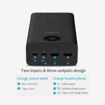 ROMOSS ZEUS PEA40 LED QUICK CHARGE 3.0 POWER BANK – 40000MAH