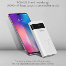 ROMOSS SENSE 6P+ LED QUICK CHARGE 3.0 POWER BANK - 20000mAh