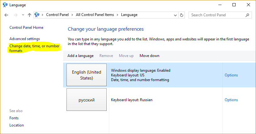 Cyrillic symbols on english Windows 10 · Roman Peshkov