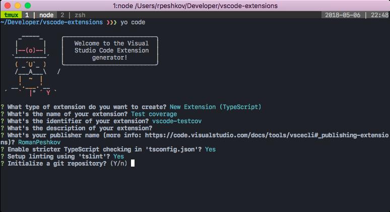 VSCode extension code coverage · Roman Peshkov