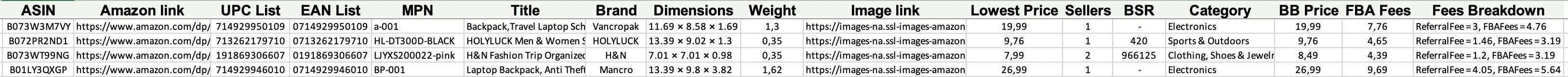 Bulk conversion result file example