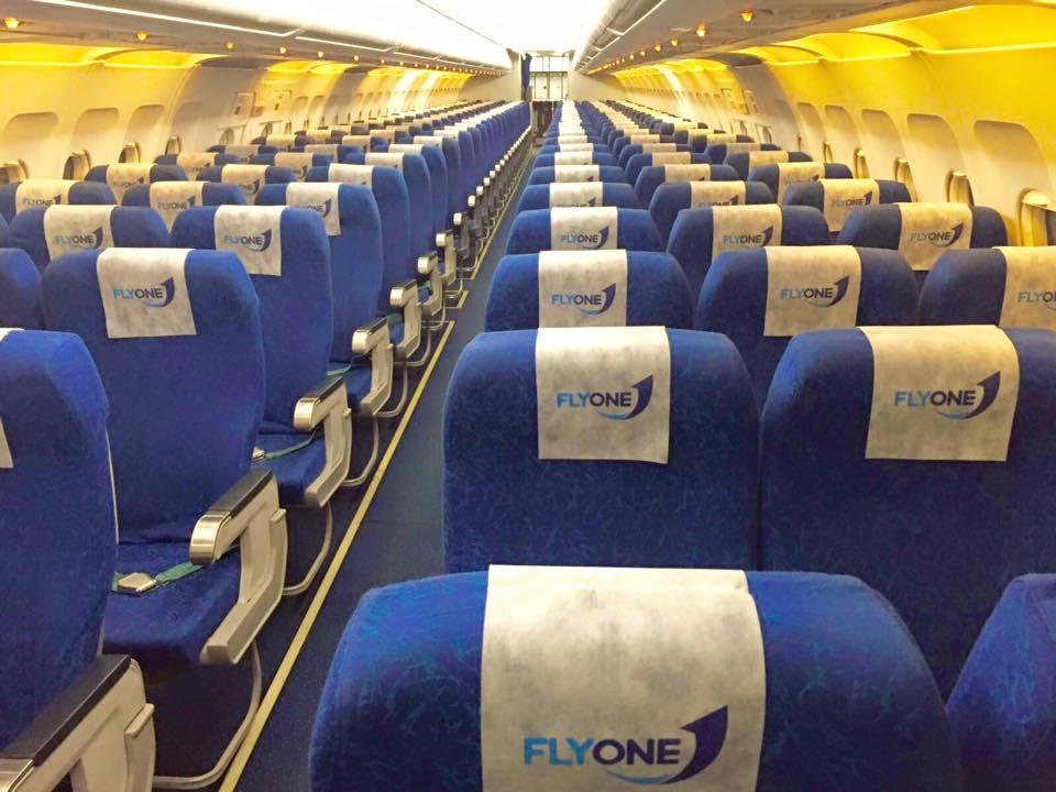flyone a320 interior