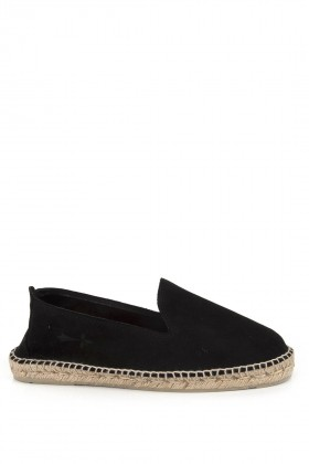 Manebi - Hamptons Suede Leather Black Espadril K10C