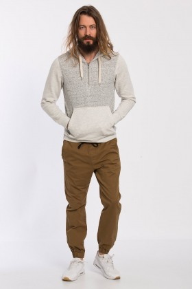 Jack & Jones - Jorjapan Gri Beyaz Sweat