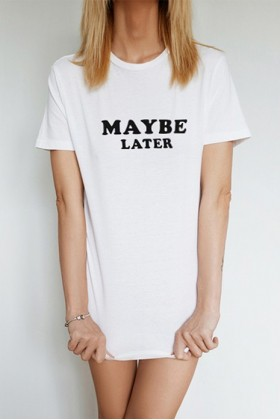 For Fun - Maybe Later / Unisex T-shirt