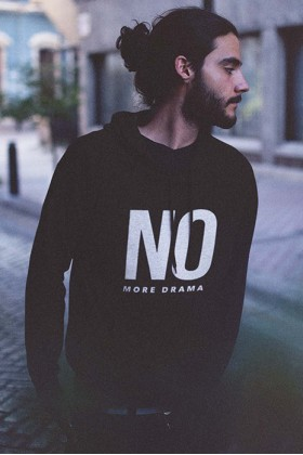 For Fun - No More Drama / Oversized Hoodie