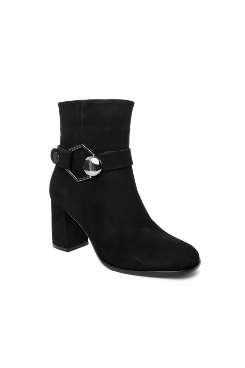 John May John May Black Suede Woman Boots with Clasp