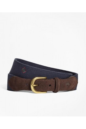 Brooks Brothers - Rf Belt Ctn Medallion Nvy