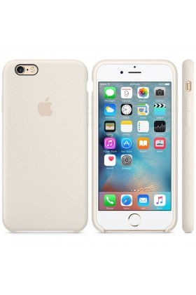 Apple - Apple Orijinal iPhone 6 / 6s Krem Silikon Kılıf