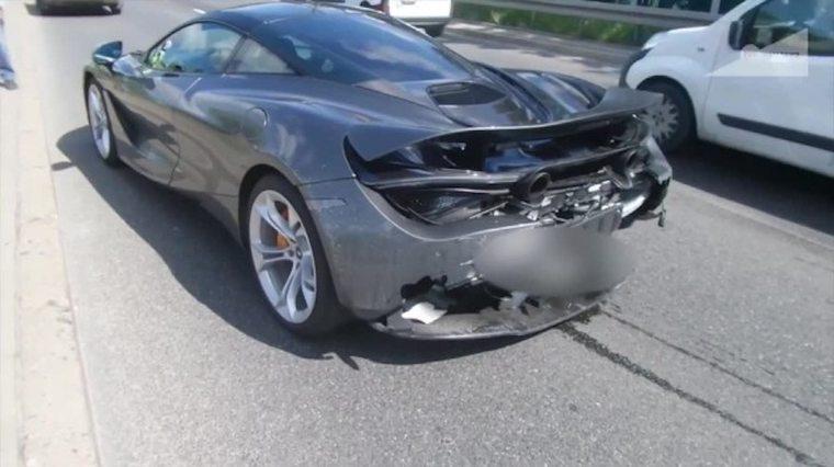 Pierwszy McLaren rozbity w Warszawie