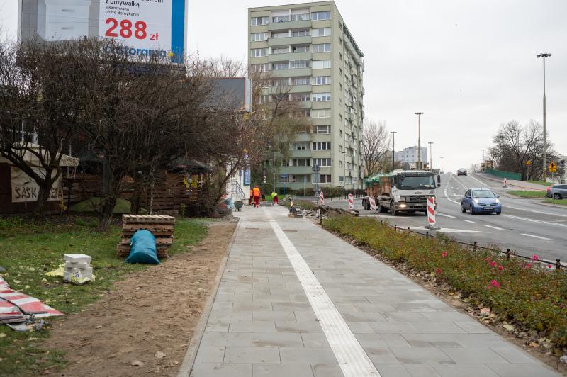 Remontujemy chodnik na Saskiej - Zarząd Dróg Miejskich w Warszawie
