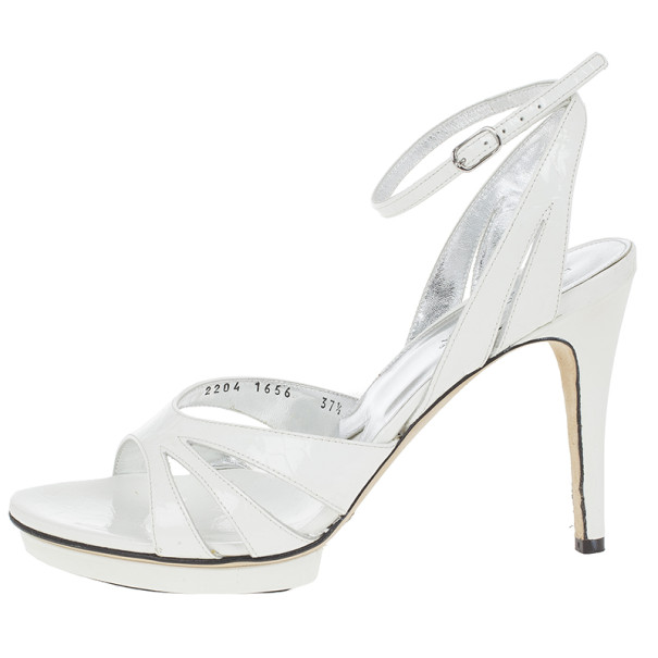 lc buy sell dolce and gabbana white leather ankle