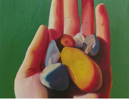 harmony of hands and stones.