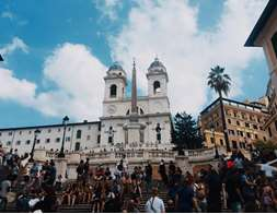 Spanish Steps and Crowd