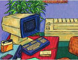 80s home office