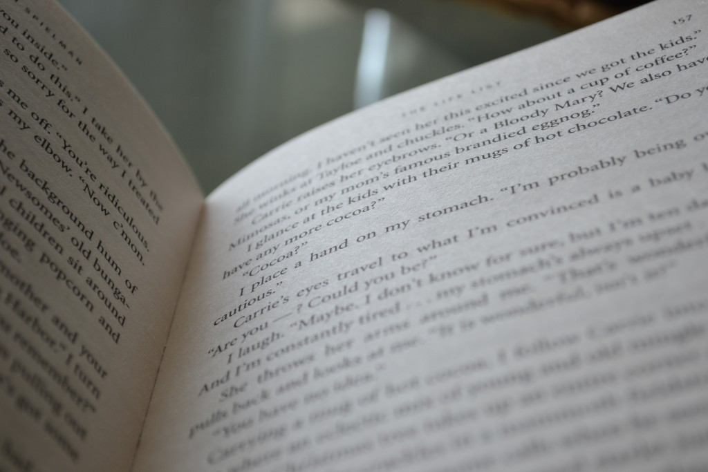 Books: The Life List   Lori Nelson Spielman - DSC 0165 1024x683