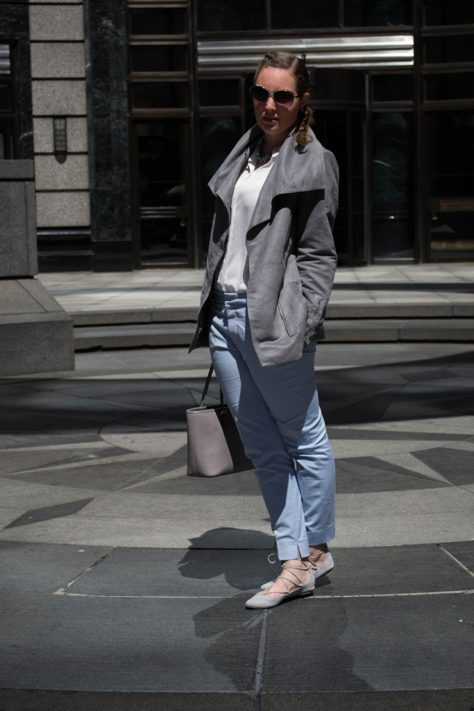 Outfit: Blue Chinos // Laced-up Ballerina's - laced up ballerinas 1 683x1024