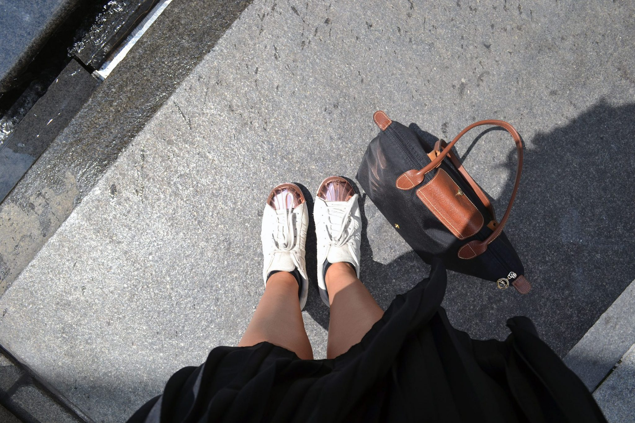 Outfit: Plisse Skirt & Adidas Superstar Metal Toes   New York