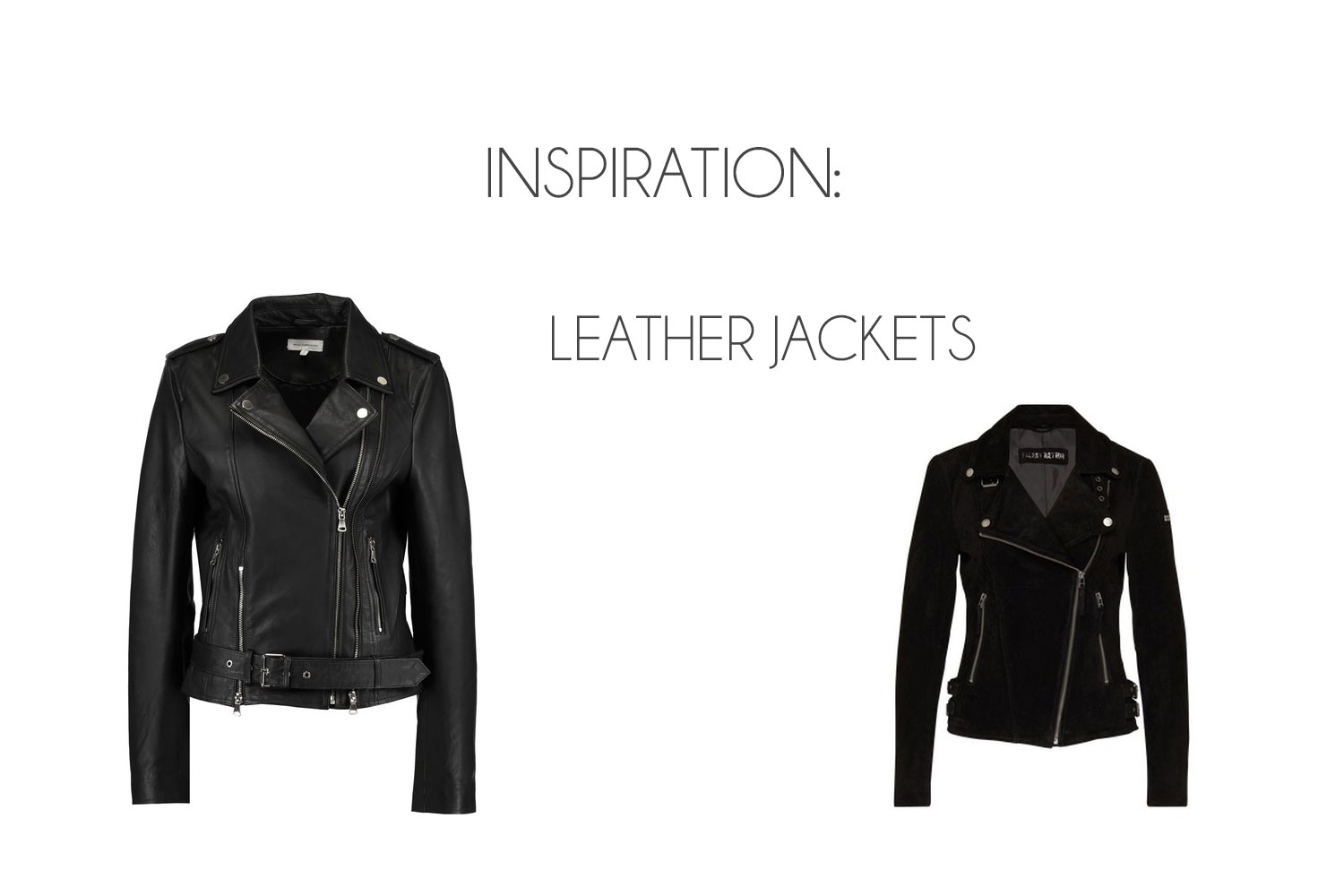 Inspiration: Leather Jackets for Autumn