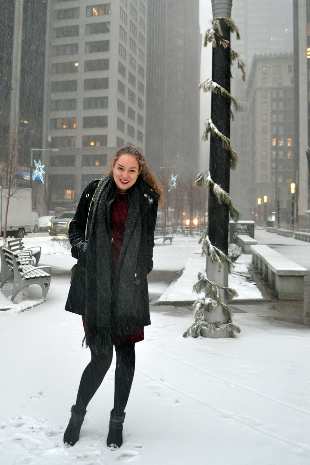 Outfit: Wearing Dresses in Winter - Winterdress 2
