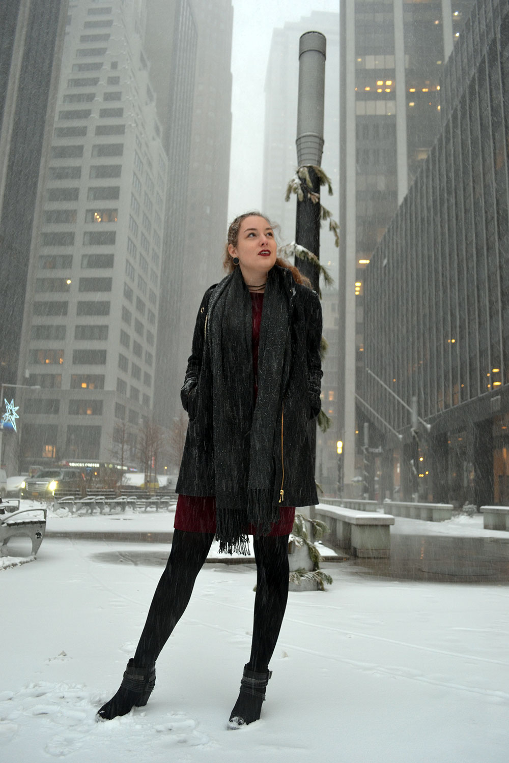 Outfit: Wearing Dresses in Winter - Winterdress 4