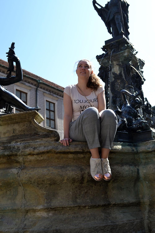 Outfit: Glencheck Pants & Nude Colors | Munich - Glencheck 2