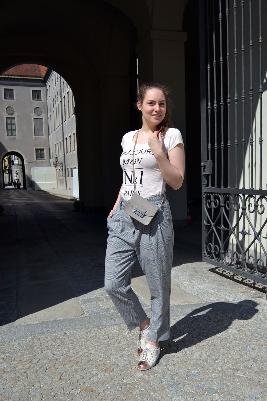 Outfit: Glencheck Pants & Nude Colors | Munich - Glencheck 7