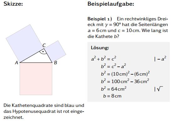Satz des Pythagoras Aufgaben