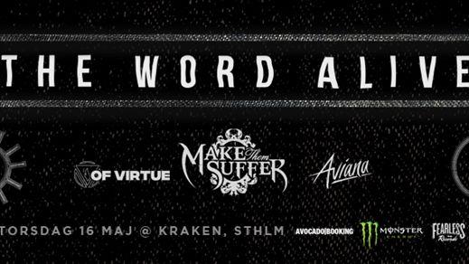 The Word Alive, Make Them Suffer, Of Virtue mfl.