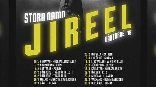 JIREEL - TRÄDGÅRN - FREDAG 15 FEB (13+)