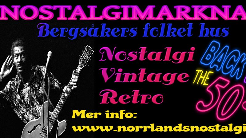 Norrlands Nostalgimarknad Bergsåkers folkets hus 27 OKT 2018