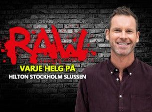 RAW comedy club med bl. a. Nisse Hallberg, Hasse Brontén