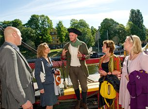 Guided tours on the ship Gothenburg
