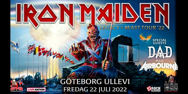 Iron Maiden European Legacy of the beast summer 2021 tour flyttas