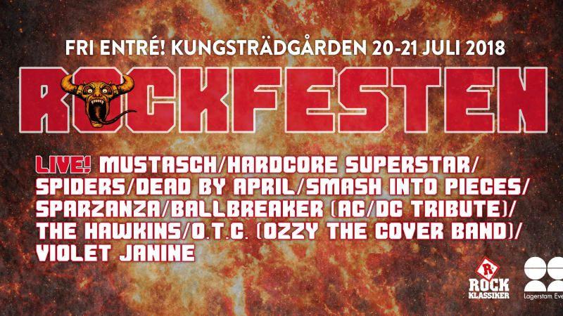 Rockfesten i Kungsträdgården 2018