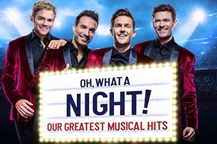 OH WHAT A NIGHT! OUR GREATEST MUSICAL HITS - Restaurangpaket & buffé