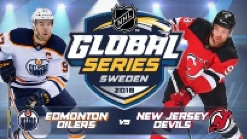 2018 NHL GLOBAL SERIES Edmonton Oilers vs New Jersey Devils